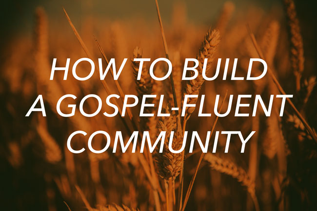 Post image for How to Build a Gospel-Fluent Community