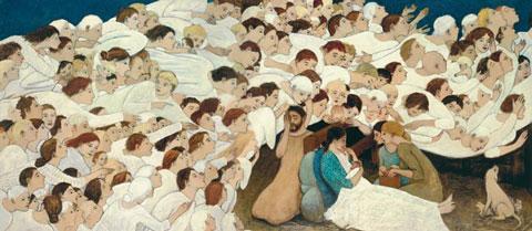Nativity, by Brian Kershisnik
