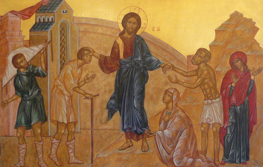 Jesus heals many